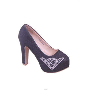 Black Closed Toe Heel shoe Black 38