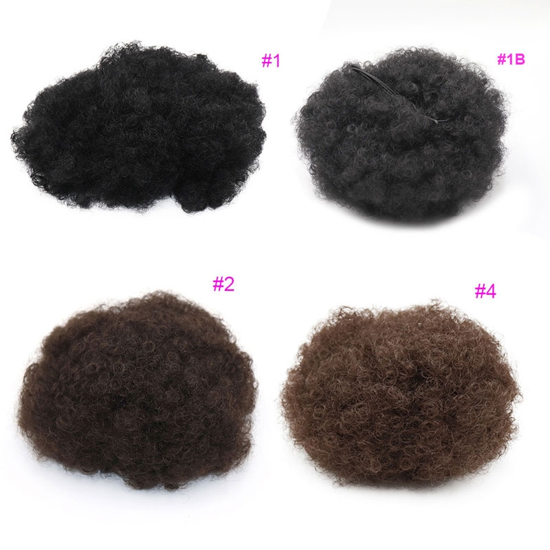 Synthetic Curly Hair Ponytail Short Afro Kinky Curly Wrap Drawstring