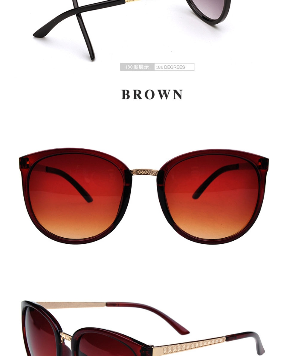 db58bd954c Round Fashion Glasses Oversized Sunglasses Women Brand Designer ...