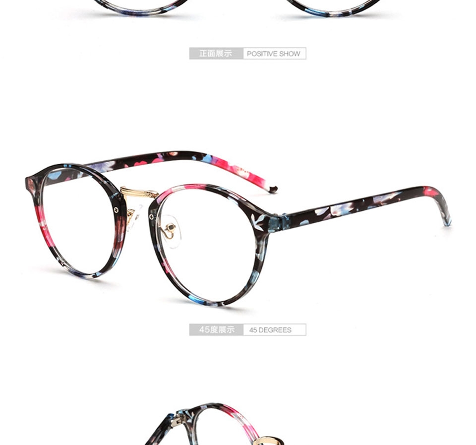 315210f65526 GIRL TR Frame Fashion Glasses Women Eyeglasses frame Vintage Round Clear  Lens Glasses G007