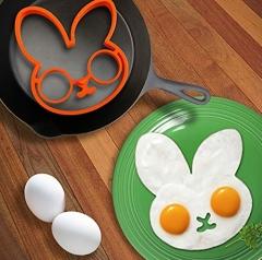 Rabbit pancake /egg silicone stencil orange one size