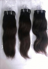Indian Remy Human Hair Grade 8A 1Pc/100g Natural 12Inch