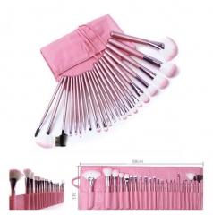 22pcs Professional Soft Cosmetic Makeup Brush Set Plus Pouch Bag - Pink PINK