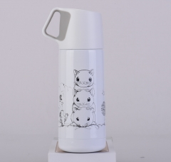 Cute Stainless Steel Thermos Flask-Green WHITE 350ML