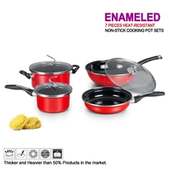 TAG Kitchen - 4 PIECES HEAT-RESISTANT NON-STICK COOKING POT SETS(ENAMELED)