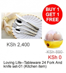 Loving Life--Tableware 24 Fork And knife set-01  (Kitchen item)