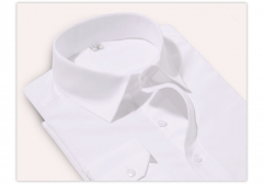 Port&Lotus Men Dress Shirts Long Sleeve Business Male Casual Striped Pure Color Shirts 075 white M
