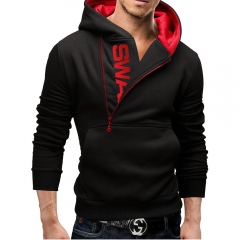 Men Hoodies HL006 RED BLACK M