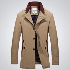 Men Jacket Winter Fashion Outdoor Men Coats Solid Color Men Clothing199 wholesale Khaki M
