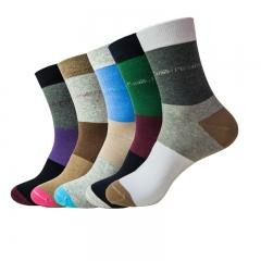 Men Socks(5pairs) New Fashion US Size 6-15 100% Cotton Big Size Colorful Patchwork 003 wholesale a color set S