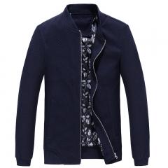 Port&Lotus Men Jacket Solid Color New Thin Fashion Outdoor Men Coats 202(HD8808)wholesale dark blue XL