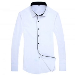Color Contrasted Men Dress Shirts AM702 AM702 L