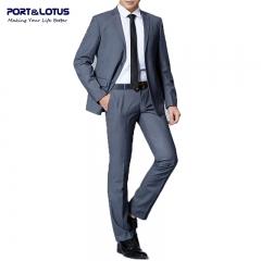 Men Fashion Suit Set (Suit + Pant) 008 PLM GRAY 42