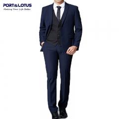 Men Fashion Suit Set (Suit + Pant) 008 PLM BLUE 42