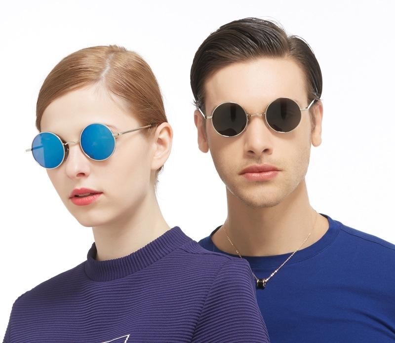100 polarized sunglasses  polarized round frame