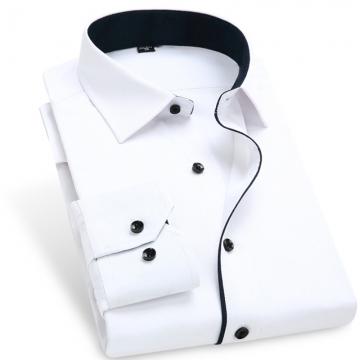 Color Contrasted Men Dress Shirts AM702 AM702 L