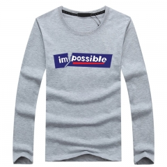 Port&Lotus Mens Long Sleeve For Camisa Masculina Famous Brand Casual Mens Clothing Printed SD066 gray m