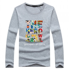 Port&Lotus Mens Long Sleeve T Shirts Brand Casual Clothing For Men Camisa Masculina Casual   SD067 gray m
