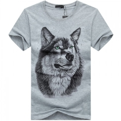 Port&Lotus Men Short Sleeve In Men's T-Shirts Brand Clothing Camisa Masculina New Casual  SD016 gray m