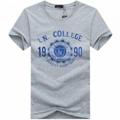 Port&Lotus Men T Shirt Cotton Fashion Brand New  SD017 gray m