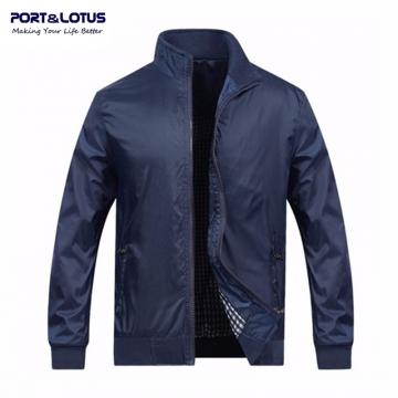 Port&Lotus Men Blue Jacket New Spring Autumn Casual Thin Outdoor Men Coats Solid Fashion 010 dark blue xxl