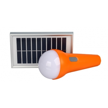 L2--Multifunctional Solar Light with Phone Charging Function Orange 1.5W