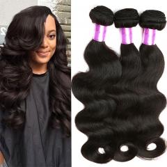 3 Piece Brazilian hair bundle human hair unprocessed body wave hair 1B 6 6 6inch