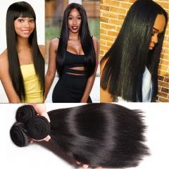 3 piece Peruvian straight unprocessed human hair weaving 100grams/piece free shipping 1B 6 6 6inch