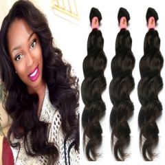 Peruvian natural wave 3 bundles virgin human hair weaving ,free shipping 1B 6 6 6inch