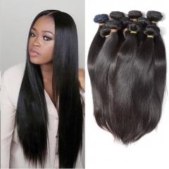 10 piece Brazilian straight virgin hair,100% human hair can be dyed kilograms hair whiolesale 1B 8inchX10pcs