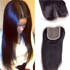 Grade 7A Brazilian hair lace closure straight 8 inch 100% unrpocessed human hair free shipping