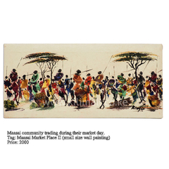 Maasai Trading Wall ART (SMALL SIZE)