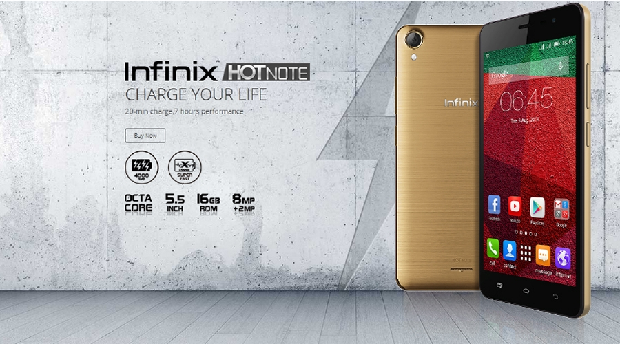 infinix hot note: change your life