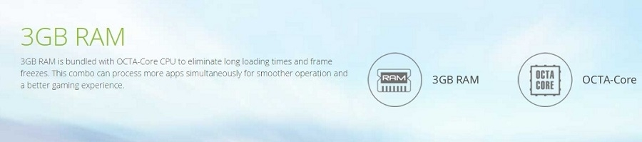 3GB RAM ensure speed like never before