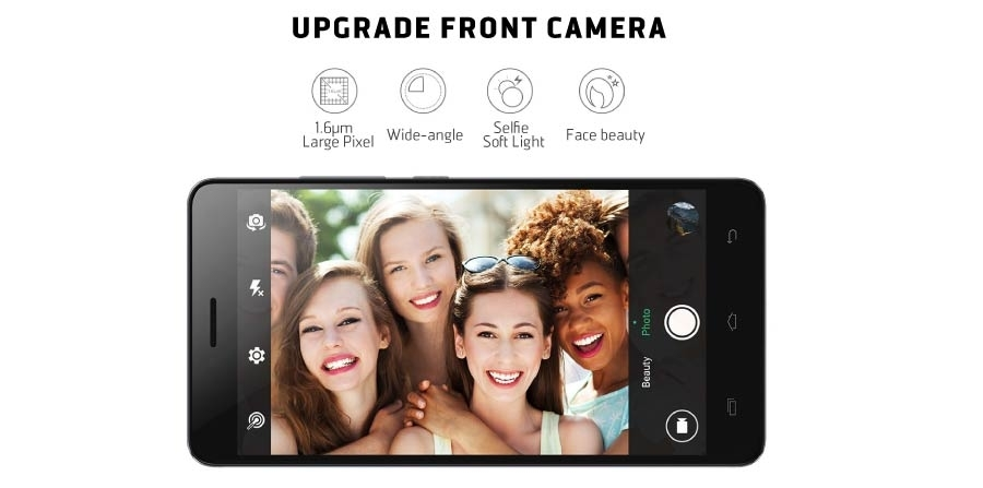 X554 Front camera with a Flash for better selfies