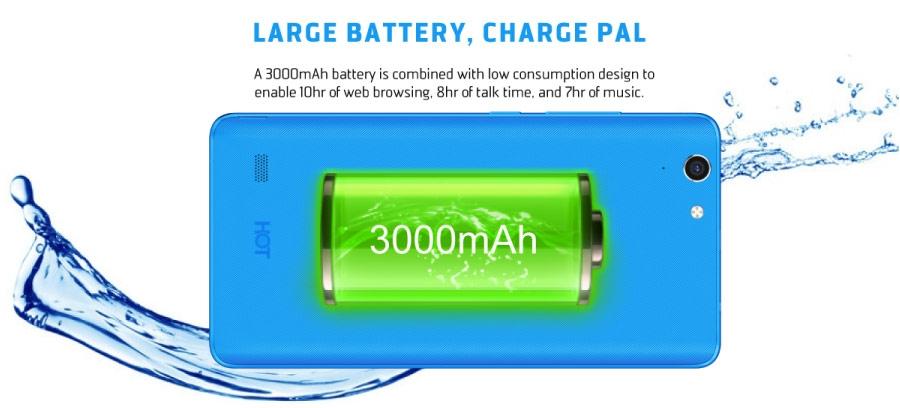 X554: 3030mAH battery