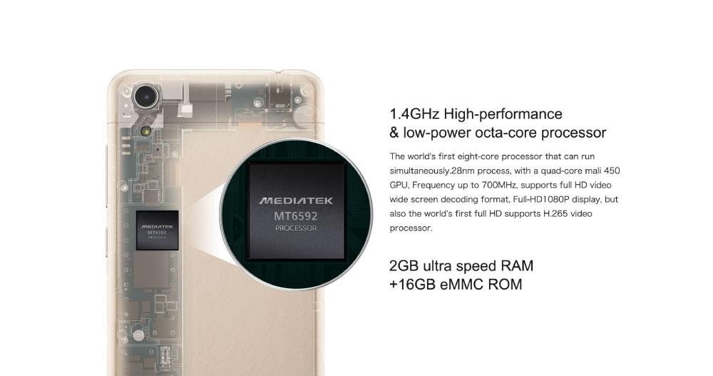 Cubot X9: 1.4 GHz Octa core Processor