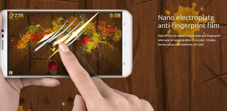 Anti fingerprint screen