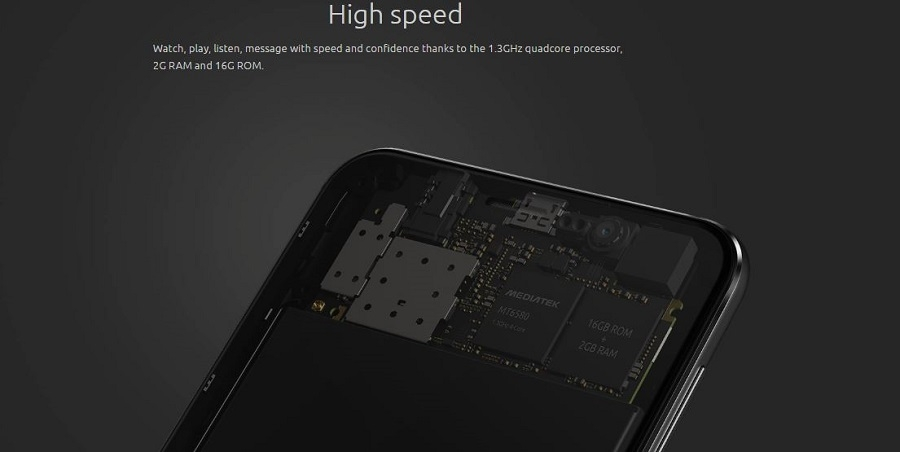 16GB ROM & 2GB RAM for speed