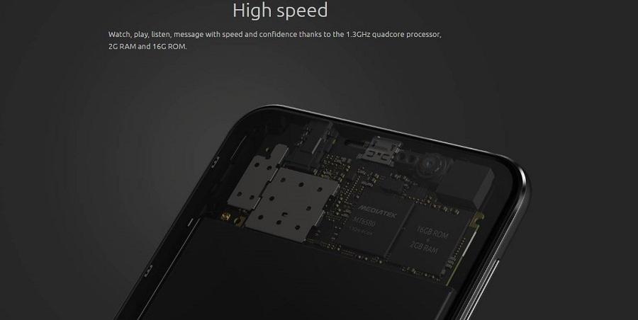 16GB ROM & 2GB RAM for speed