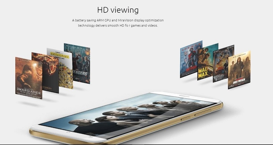 HD Screen for videos and games