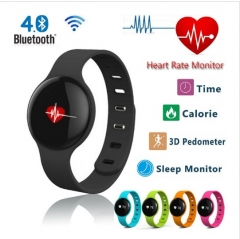 H18 Bluetooth Smart Band Heart Rate Sport Fitness Tracker WristBand with Sleep Monitor Pedometer black .