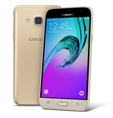 "SAMSUNG GALAXY J3 2016, 5"" Super AMOLED Screen, 8GB ROM, 8MP Camera Gold"