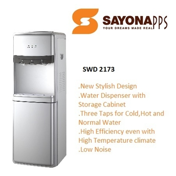 Sayona Water Dispenser with Storage Cabinet for Hot, Cold or Room Temperature Water(SWD-2173)