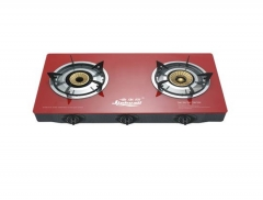 Sayona SB208 Automatic 2 Burner Table Top Gas Cooker Red