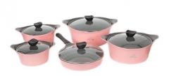 Sayona SYC-3003 Non-stick Ceramic Cookware Set - Pink, 10-Piece Set