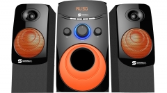 Subwoofer  channel 2.1 SHT-1203BT - 6000 PMPO USB,SD, black and orange