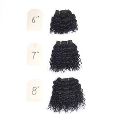"color 1b,jerry-3pcs, 3pcs/set 6""7""8"" full head human hair weaves,"