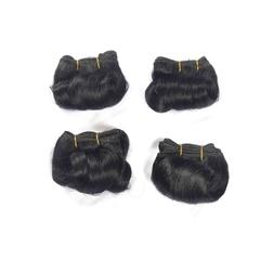 Color 1,black,afro-b,100% human hair extension,4pcs,