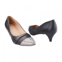 Stylish Mini Heel By Bata Black-651-6065 3